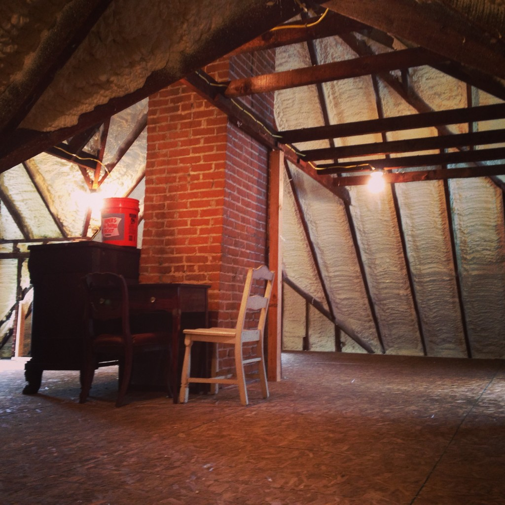Attic Insulation In The Victorian Attic Victorian Home